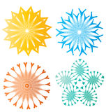 Beautiful colorful abstract flower elements Royalty Free Stock Image