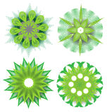 Beautiful colorful abstract flower elements Royalty Free Stock Photos