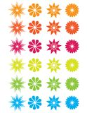 Beautiful and Colorful Abstract Flowers Royalty Free Stock Photo