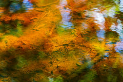 Beautiful colorful abstract water reflection Stock Photos