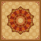 Beautiful, colorful, arabesques mandala/rosette Royalty Free Stock Photography