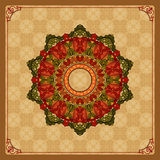 Beautiful, colorful, arabesques mandala/rosette Royalty Free Stock Images