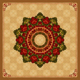 Beautiful, colorful, arabesques mandala/rosette Royalty Free Stock Photos