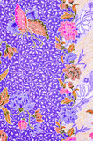 Beautiful and colorful of art Malaysian and Indonesian Batik Royalty Free Stock Photography