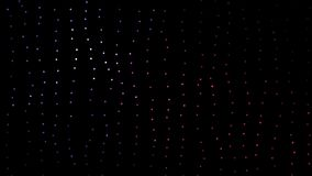 Beautiful and colorful blurred strays combined with small dot particles moving around through space. Colored dots moving. In space. Excellent animation for your Stock Photography