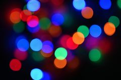 Beautiful colorful blurry background for Christmas and happy new year. Abstract - bokeh royalty free stock images
