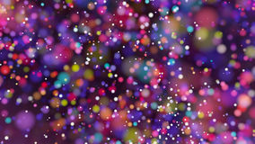Beautiful colorful bokeh blurred background defocused lights Stock Photography