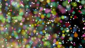 Beautiful colorful bokeh blurred background defocused lights Stock Images