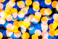 Beautiful colorful bokeh festive lights Stock Images
