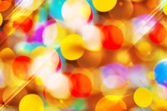 Beautiful colorful bokeh festive lights Royalty Free Stock Images