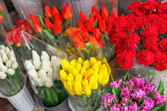 Beautiful colorful bouquets of fresh flowers. Beautiful colorful bouquets of fresh spring flowers stock photography