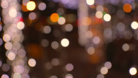 Beautiful colorful and bright bokeh lights in the stock video