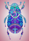 Beautiful colorful bug with pattern Stock Image