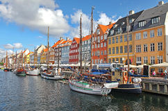 Beautiful colorful buildings in Copenhagen Royalty Free Stock Images