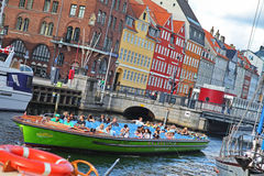 Beautiful colorful buildings in Copenhagen royalty free stock photos