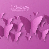 Beautiful colorful butterfly background concept Royalty Free Stock Photos