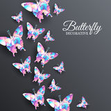 Beautiful colorful butterfly background concept Stock Photography