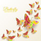 Beautiful colorful butterfly background concept Royalty Free Stock Image