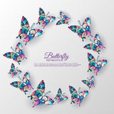 Beautiful colorful butterfly background concept Stock Image