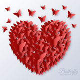 Beautiful colorful butterfly heart on valintines Royalty Free Stock Photo
