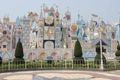 Beautiful and colorful castle at Hong Kong - September 21, 2014 royalty free stock photos