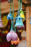 Beautiful colorful ceramic bells row Royalty Free Stock Image