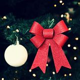 Beautiful colorful Christmas decorations. Christmas tree - concept for winter time and holiday season stock photos