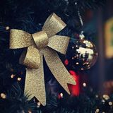 Beautiful colorful Christmas decorations. Christmas tree - concept for winter time and holiday season royalty free stock image