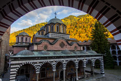 Beautiful colorful church in autum_2 Royalty Free Stock Image