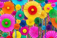 Colorful circle paper work as backdrop. Beautiful Colorful circle paper work as backdrop royalty free stock image