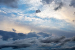 Beautiful colorful cloudy sky. Stock Images