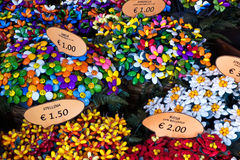 Beautiful and colorful confetti facts sulmona Stock Photos