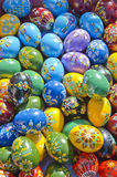 Beautiful and colorful decorative easter eggs Royalty Free Stock Photography