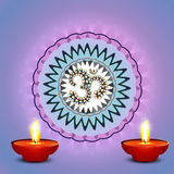 Beautiful colorful diwali diya rangoli colorful ba Stock Photography