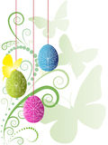 Beautiful colorful easter background. With butterfly Stock Photo