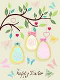 Beautiful colorful Easter card Royalty Free Stock Photos