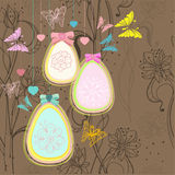 Beautiful colorful Easter card with eggs Stock Image
