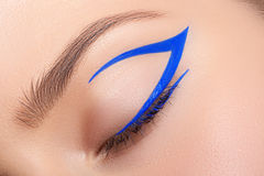 Beautiful and colorful eye makeup. Stock Photography