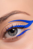 Beautiful and colorful eye makeup. Stock Images