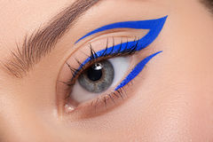 Beautiful and colorful eye makeup. Royalty Free Stock Photo