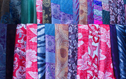 Beautiful Colorful fabrics Stock Photo