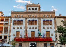 Beautiful colorful facade of a government building of a town Royalty Free Stock Photo