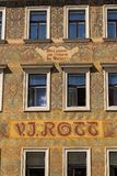 Beautiful colorful facede from Mikolas Ales on old V. J. Rott building from 1890 at Male namesti near the Old Town Square, Prague. Czech Republic, UNESCO World stock photo