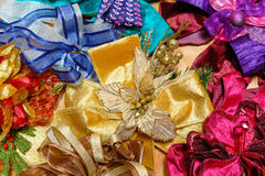 Beautiful colorful festive bows background.  Royalty Free Stock Image