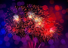 Beautiful colorful firework  with boke light Stock Images