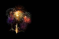 Beautiful colorful firework Stock Image