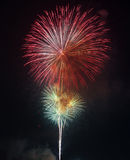 Beautiful colorful firework on the sky at night. Royalty Free Stock Photography