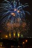 Beautiful colorful fireworks royalty free stock images
