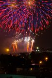 Beautiful colorful fireworks royalty free stock photography