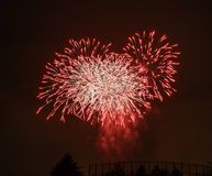 Beautiful colorful fireworks on sky royalty free stock images